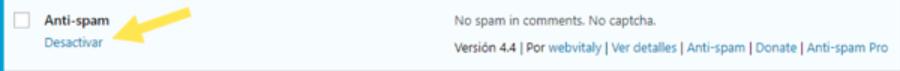 Activar Anti-spam