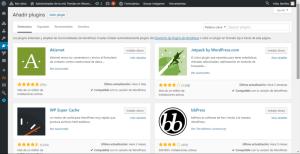 Buscar plugin en el panel de administración de WordPress