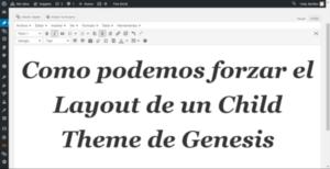 Como podemos forzar el Layout de un Theme en Genesis
