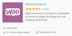 Descargar y activar WooCommerce