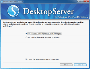 DesktopServer Instalado en Windows