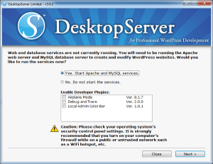Iniciar DesktopServer en Windows