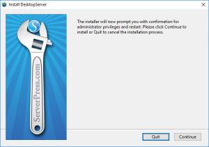 Instalar DesktopServer