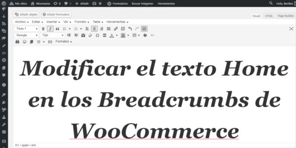 Modificar el texto Home en los Breadcrumbs de WooCommerce